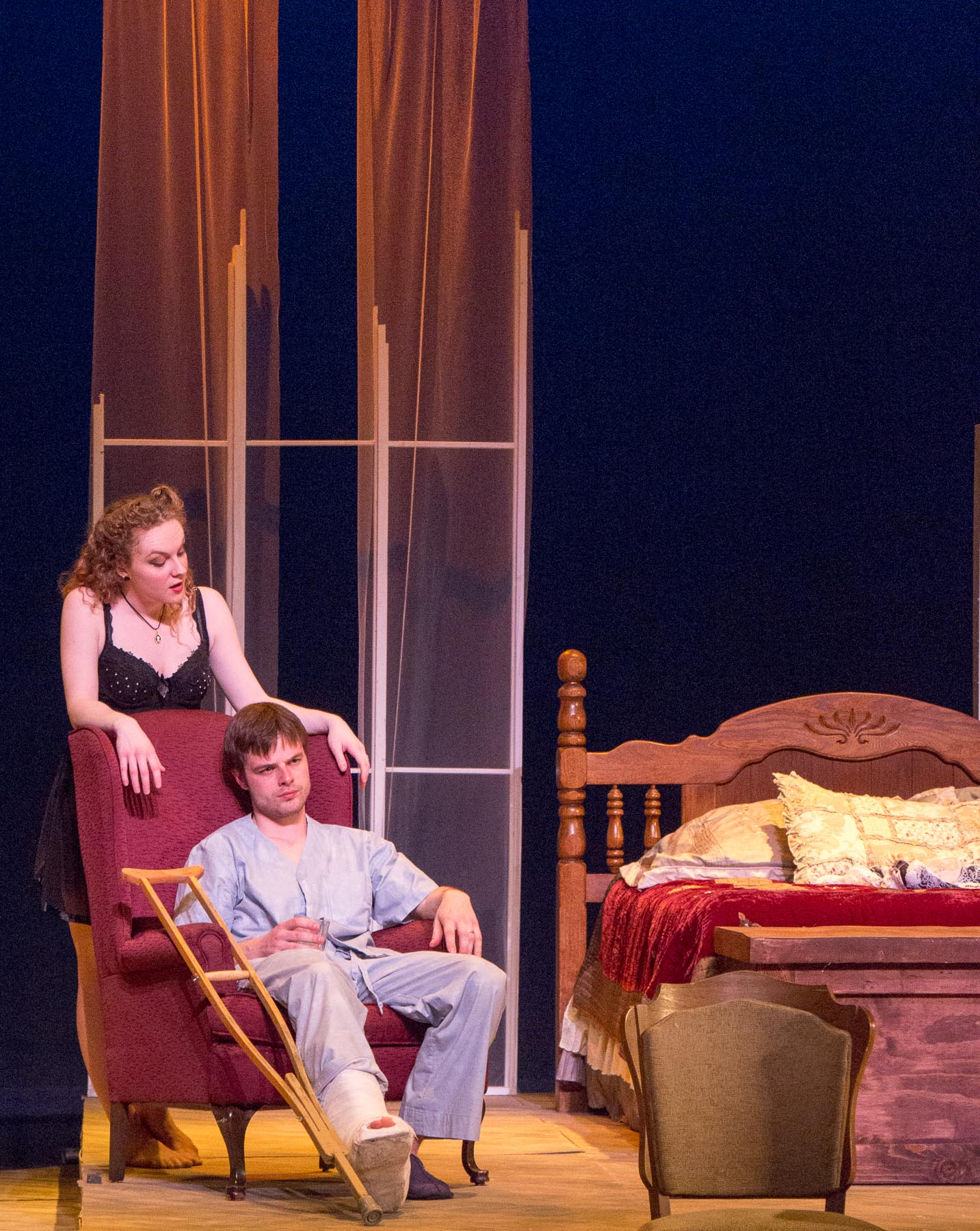 """Cat on a Hot Tin Roof"" production photo."