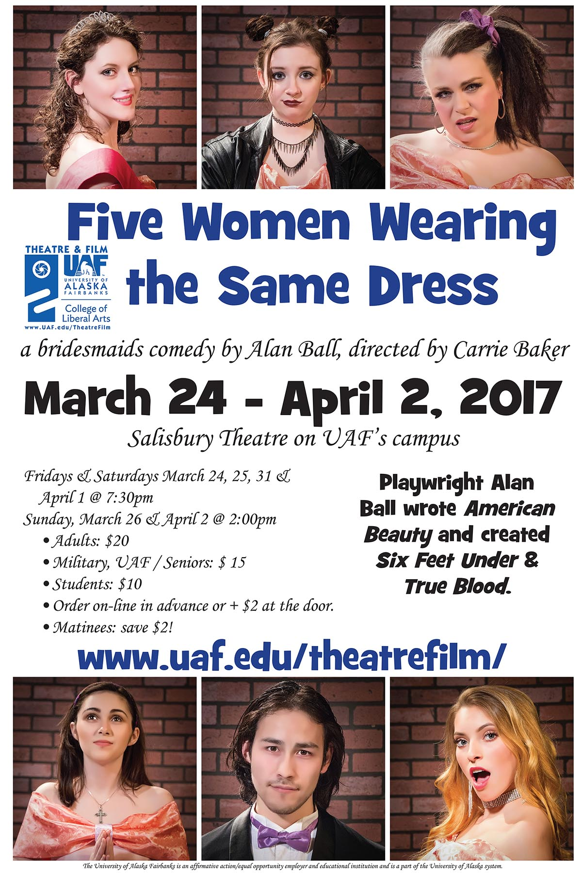 Five Women Wearing the Same Dress poster