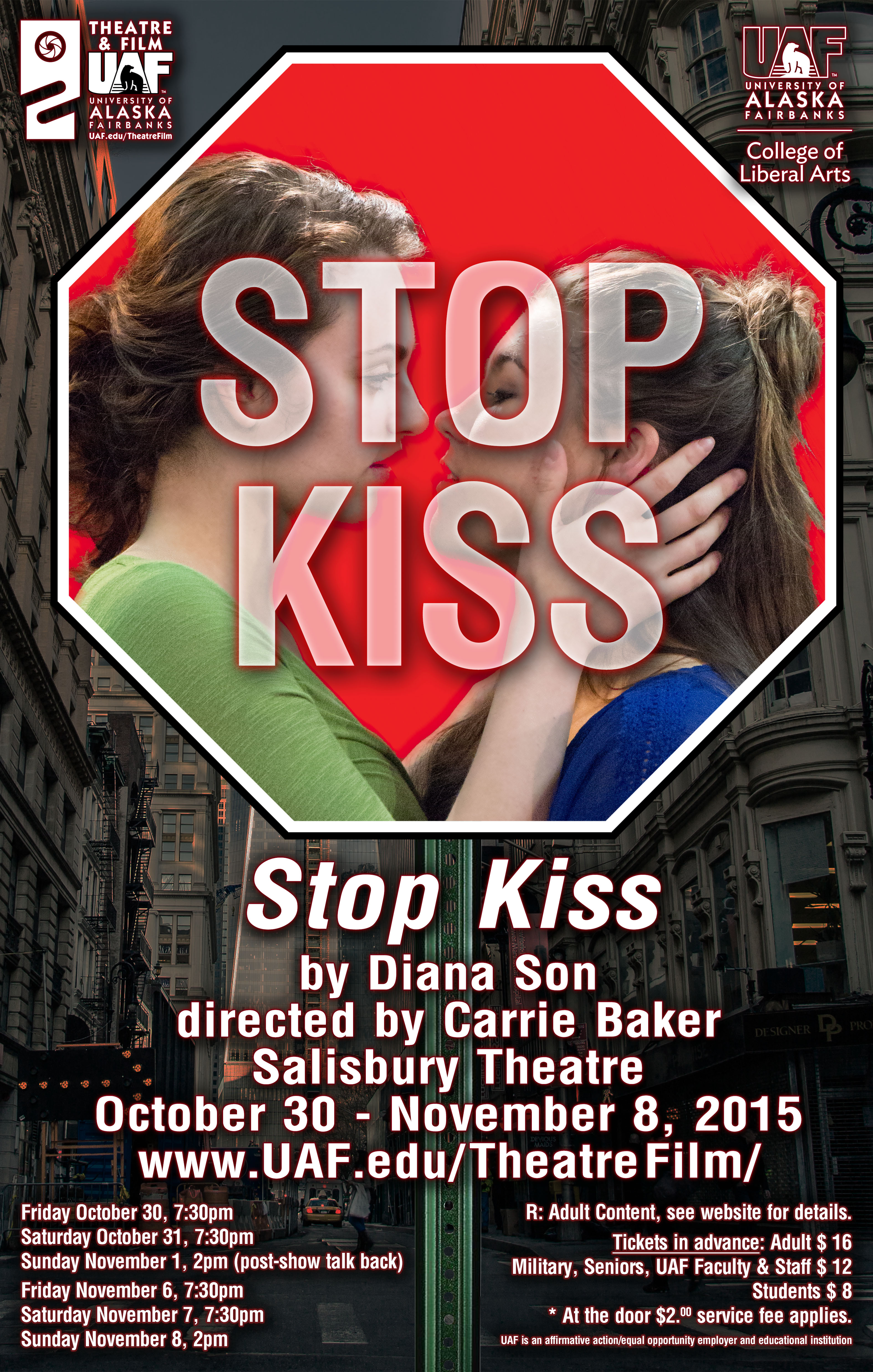 """""""Stop Kiss"""" production poster"""