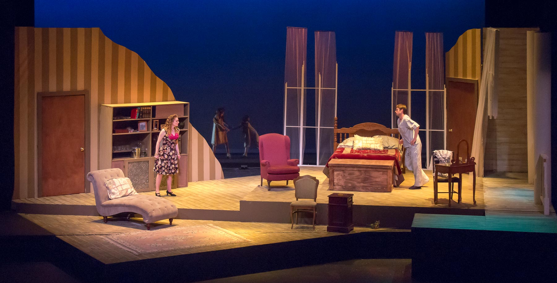 """""""Cat on a Hot Tin Roof"""" production photo."""